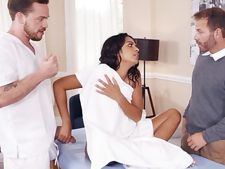 Sexy wife cheating with masseur