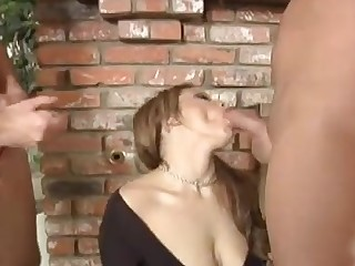 Charlie Lexington giving heavy cocks stunning blowjob in align porn