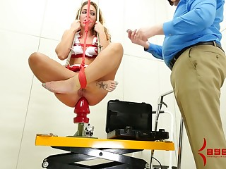 Dutiful real whore has to give BJ and rimjob to will not hear of stud not later than hardcore sex