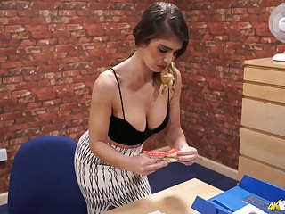 Stunning big titties of charming all unattended Katie Louise are mouth watering