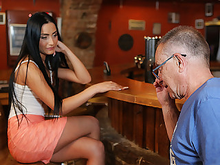 DADDY4K. Tramp properly nails black-haired raunchy in...