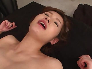 JAV hard-core three way cooch penetrating with super-steamy cougar in a sundress