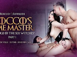 Anna De Ville & Kristof Cale & Lutro in Rocco's Time Master : Revenge of the Sex Witches - EvilAngel