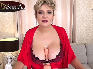 More jerk off recipe from busty mature Lady Sonia