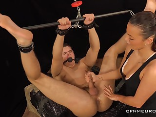 Sexy dominatrix Lucy Vojak fucks anal hole for submissive boyfriend