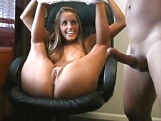 Fucking tight pussy on high the chair
