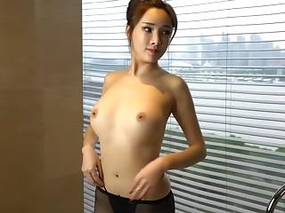 Super Hot Asian Model Pleasing Herself
