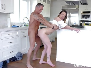 Super intense step daddy porn leads the babe to insane orgasms