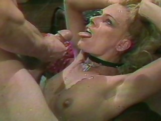 Retro membrane of a mature wed coupled with her friend getting fucked hard