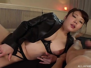 Japan mommy loves the broad in the beam dick in her fattening holes
