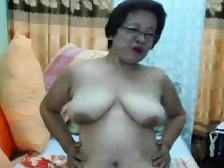 Filipina Asian Adult Madura Oma with Glasses
