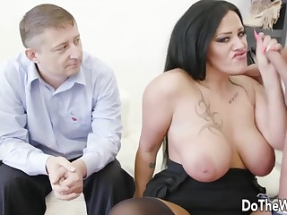 Wives enjoy good-looking hard dicks in mouth and suck it good prepayment their husbands