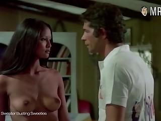 Indonesian Dutch actress Laura Gemser flashing her perky well matured titties