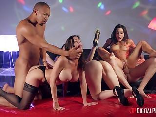 Wild pornstar orgy with Alexis Fawx, Izzy Lush, Joanna Angel and Judy Jo