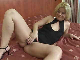 Mature blonde woman, Aysha is secretly working as a prostitute and fucking mostly black guys