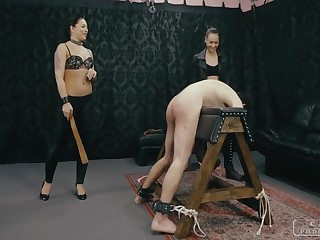 Dirty PUNISHMENTS - Mistress Dumps together with her lesbo friend