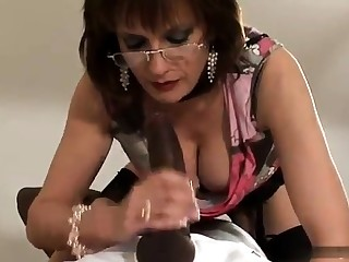 Matured and busty non-professional wife blowjob and anal creampie