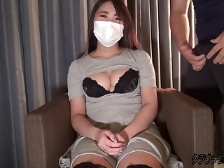 Busty asian adjacent encircling mask loves encircling fuck