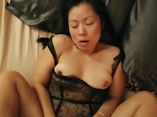Erotic asian wife fucked champaign sexy outfit