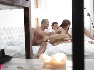 Slim4K - Slim inclusive in stockings enjoys anal