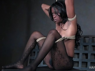 Buxom black hottie Melody Cummings is made be worthwhile for profligate BDSM fun