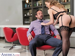 Curvaceous MILF in diabolical tights Cherie Deville enjoys riding sloppy cock