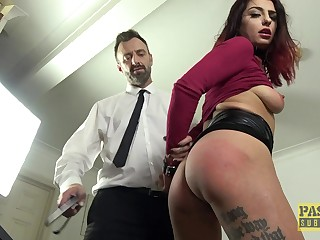 Desirable redhead cutie Cat Seizure in dirty BDSM coition video