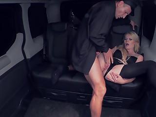 FuckedInTraffic - Beautiful Czech Blonde In Stockings G