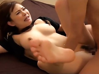 Downcast squirting Japanese pussy in hardcore video