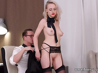 Obedient blonde mill magic with the man's penis