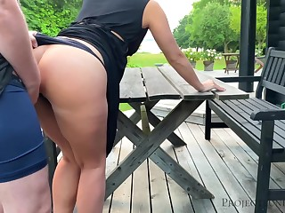Morning open-air quickie with schoolgirl - projectsexdiary