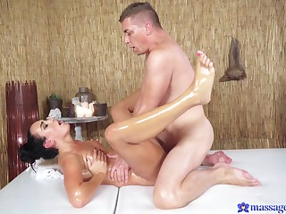 Sexual perfection connected with scenes of erotic massage for a sensual wife