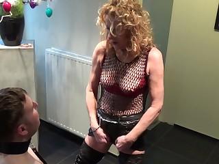 MILF Kyra & Her Nylon Femdom Slave - TacAmateurs