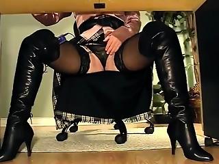 Kattie Gold nylons nylon legs fetish masturbation