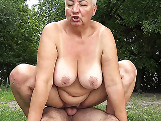 Bbw, Beach, Mom, Old, Old and young, Young