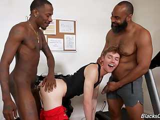 Twink gets blacked in serious XXX act out