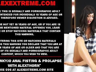 Hotkinkyjo – anal fisting & prolapse with AlexThorn